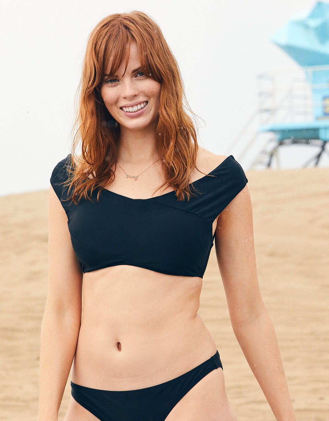 238997f715 Aerie Off-The-Shoulder Crop Bikini Top. Placeholder image. Product Image
