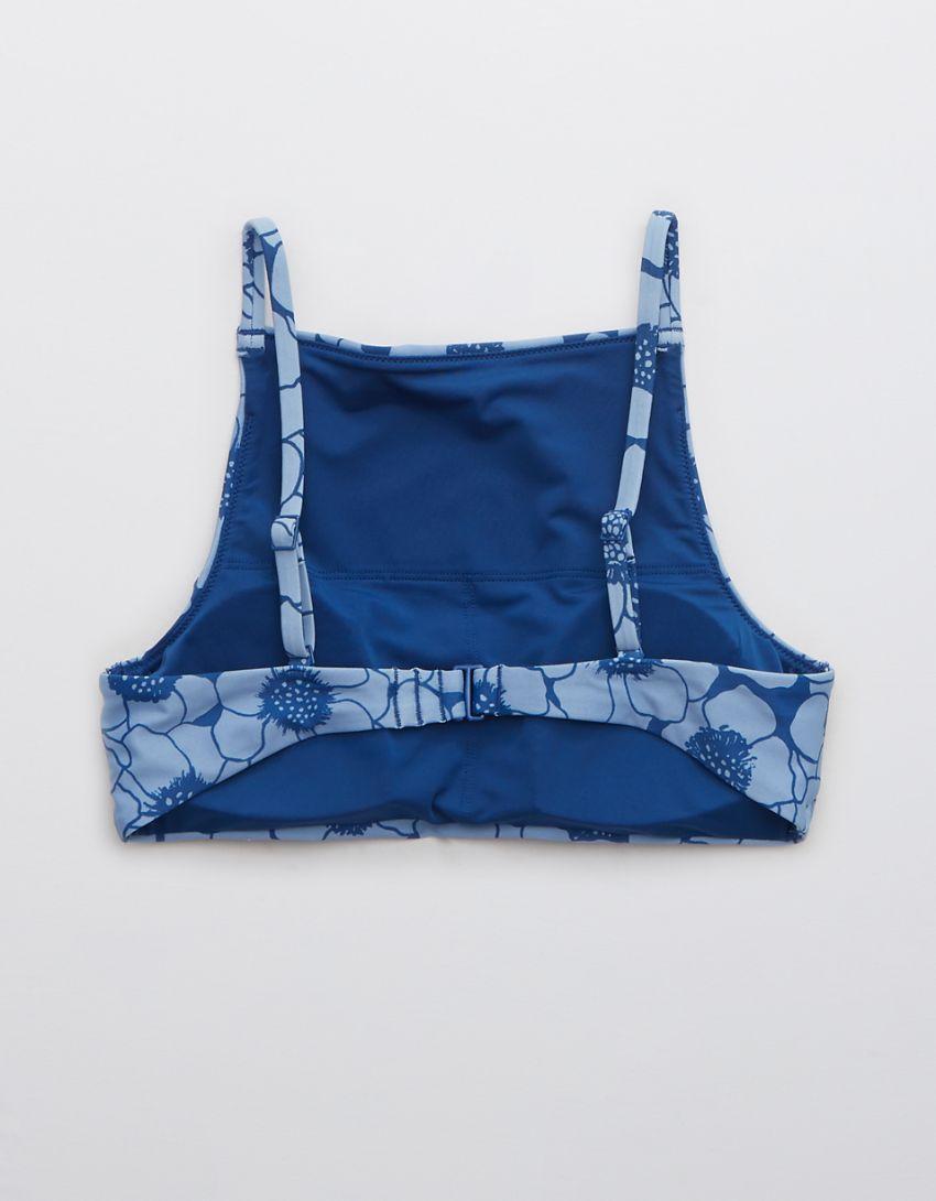 Aerie Printed High Neck Bikini Top