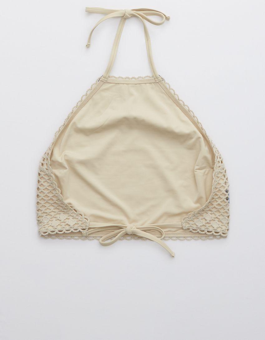 Aerie Crochet High Neck Bikini Top