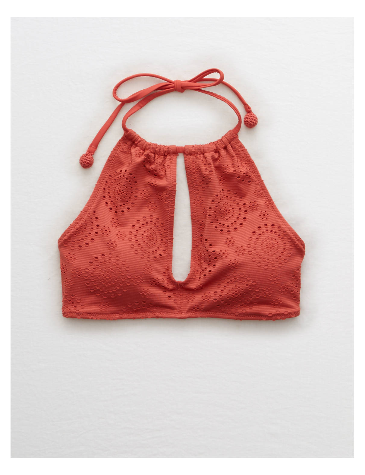 Display product reviews for Aerie Eyelet High Neck Bikini Top