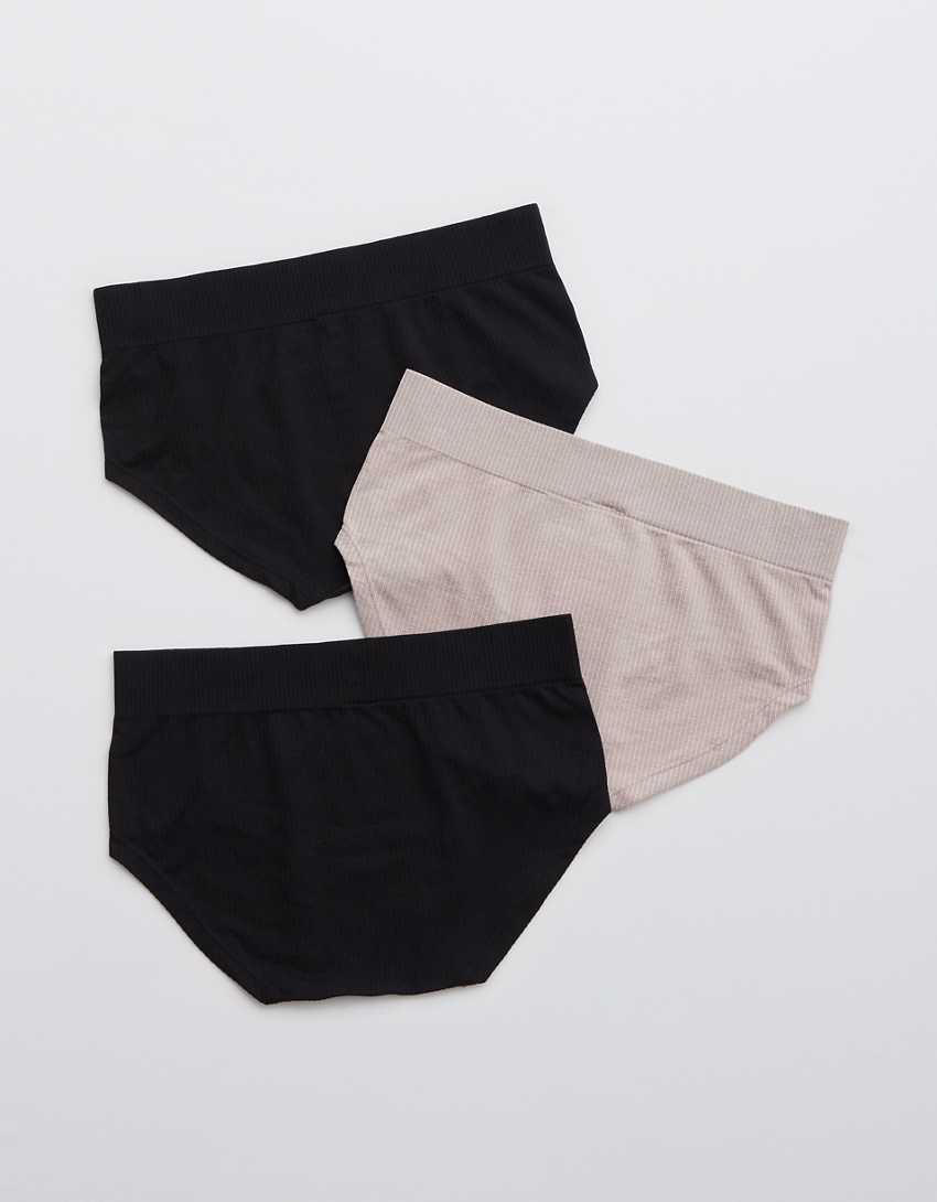 Aerie Ribbed Seamless Boybrief Underwear 3-Pack