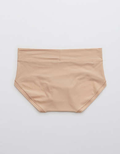 Aerie Real Me Boyfried Brief Garden Party Light Pink Small NWT