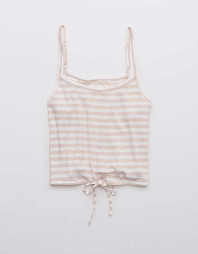 Aerie Real Soft® Ribbed Striped Cropped Cami