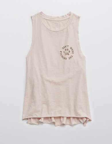 Aerie Animal Sleep Graphic Muscle Tank