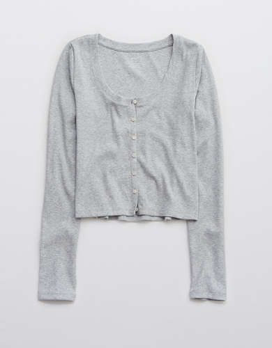 Aerie Ribbed Long-Sleeve Shirt