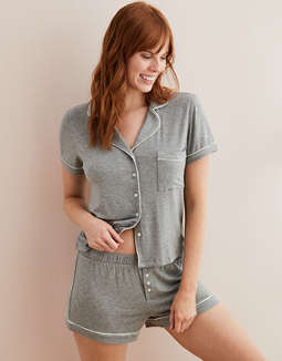 Aerie Piping Pajama Shirt