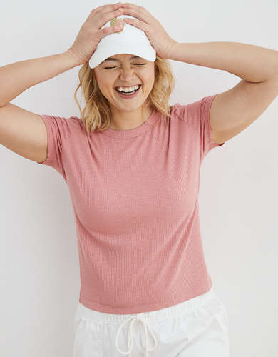 Aerie Real Soft® Ribbed Sleep T-Shirt