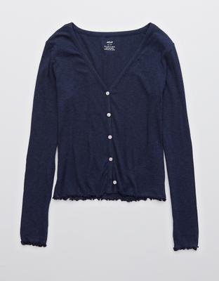 Aerie Real Soft® 羅紋長袖裇衫