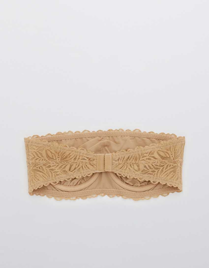 Aerie Real Power Firework Lace Unlined Bandeau Bra