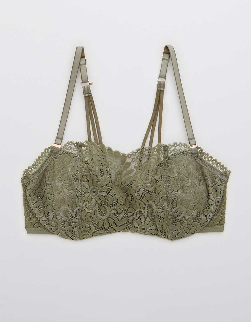 Aerie Real Power Far Out Lace Unlined Bra