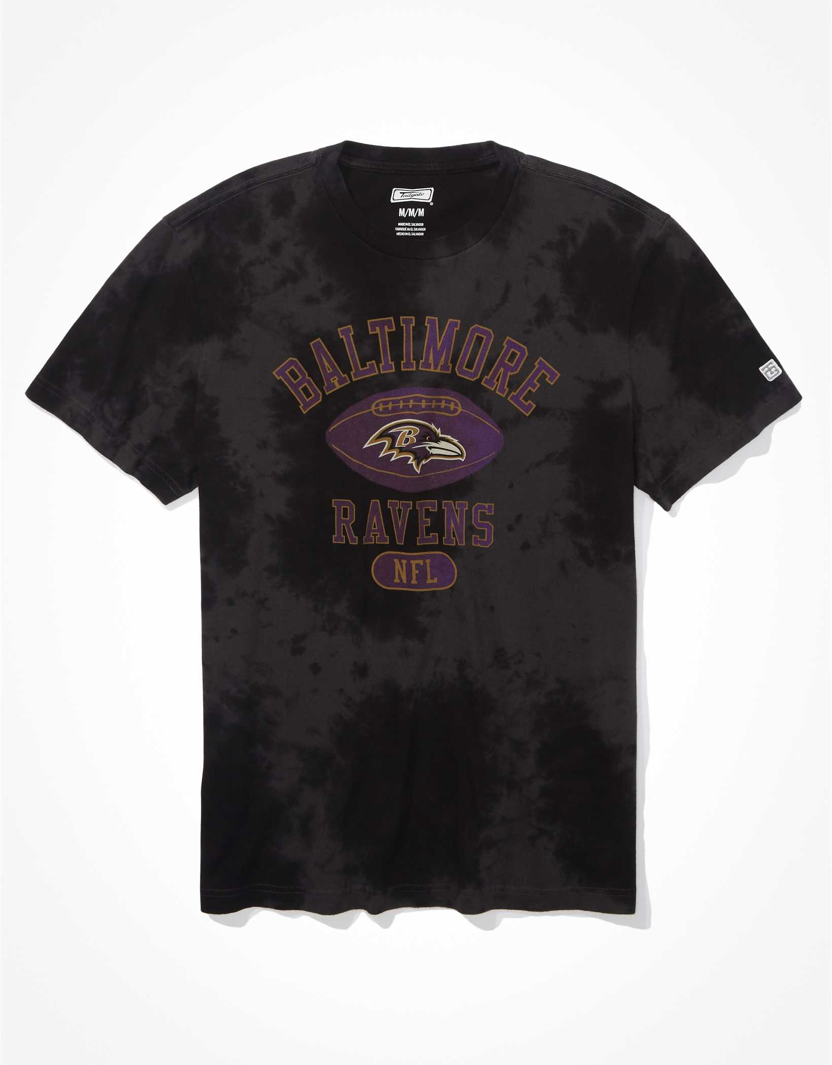 Tailgate Men's Baltimore Ravens Tonal Tie-Dye T-Shirt