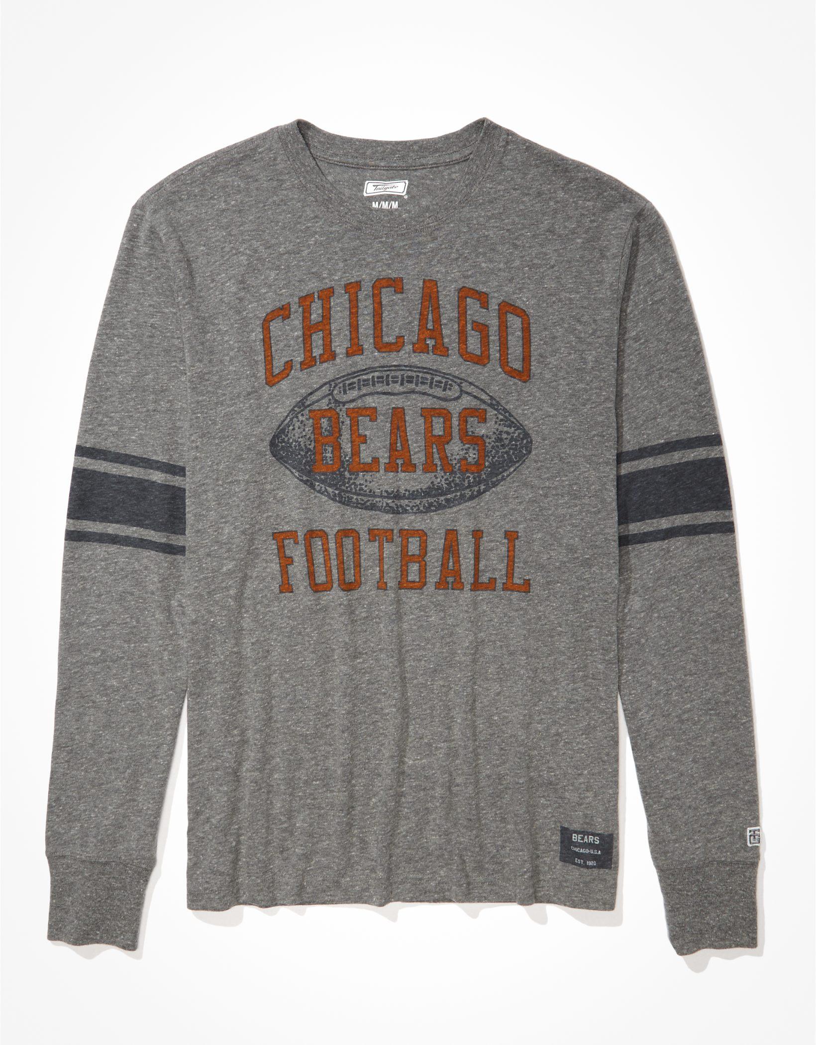 Tailgate Men's Chicago Bears Long-Sleeve Striped T-Shirt