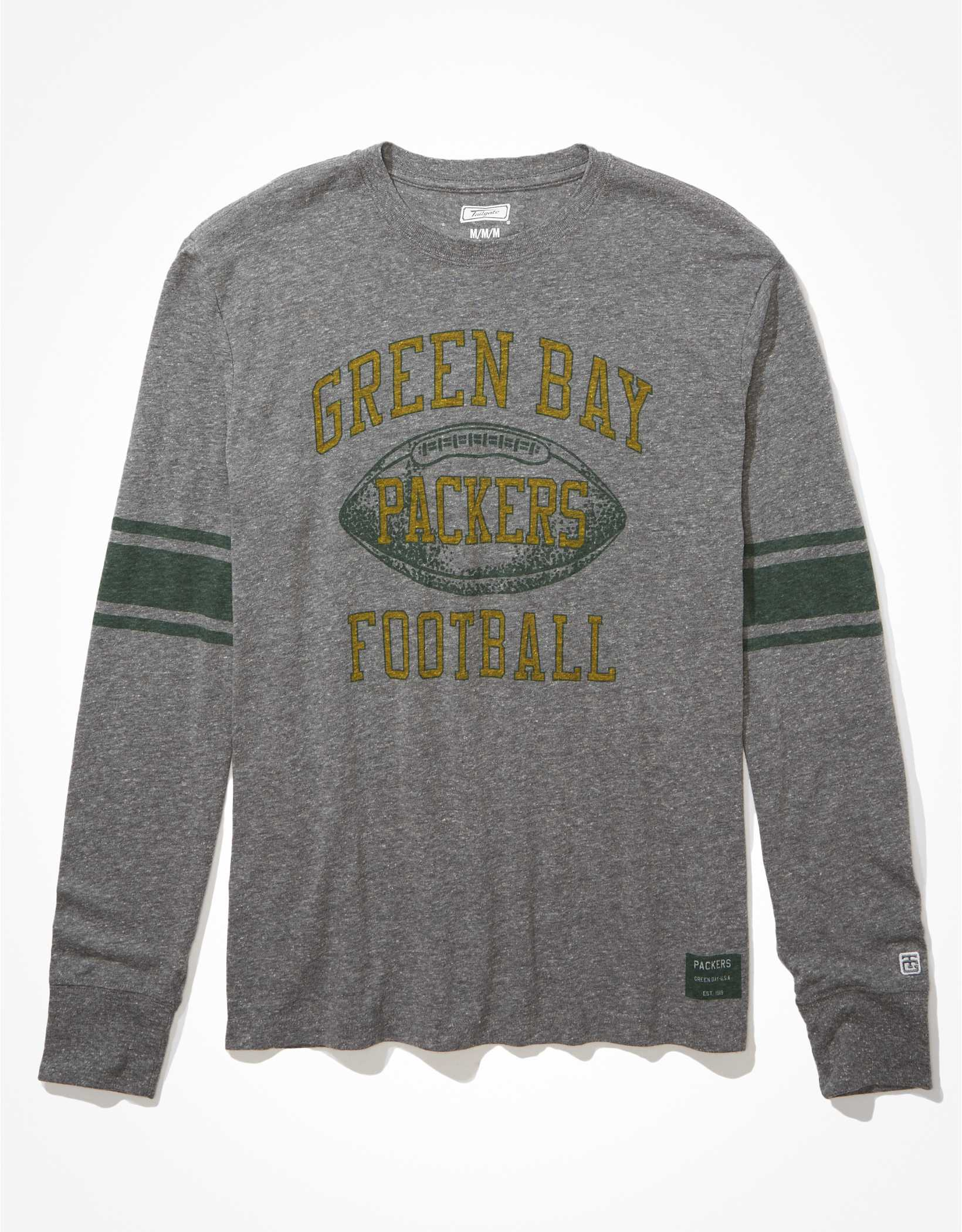 Tailgate Men's Green Bay Packers Long-Sleeve Striped T-Shirt