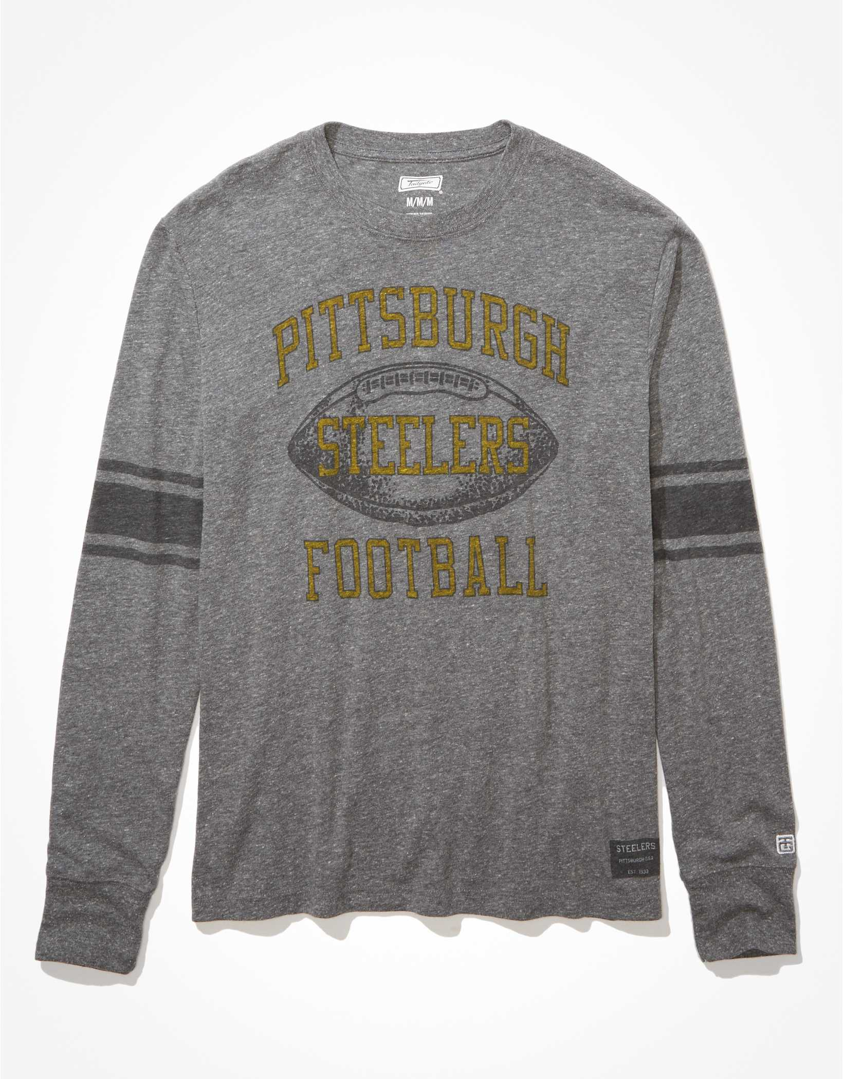 Tailgate Men's Pittsburgh Steelers Long-Sleeve Striped T-Shirt