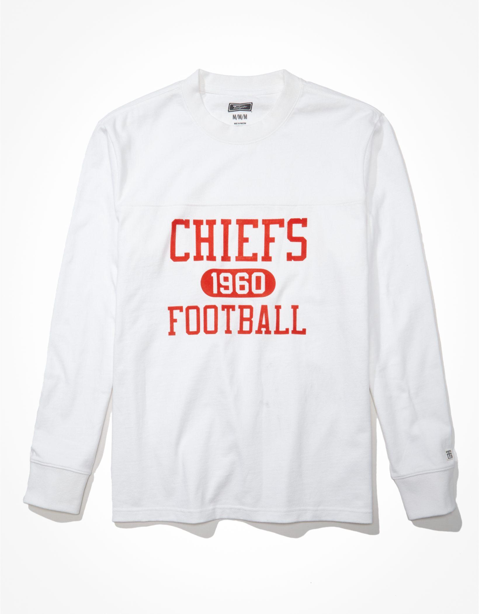 Tailgate Men's Kansas City Chiefs Long-Sleeve Heavyweight Shirt