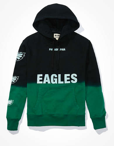 Tailgate Men's Philadelphia Eagles Dip-Dye Hoodie