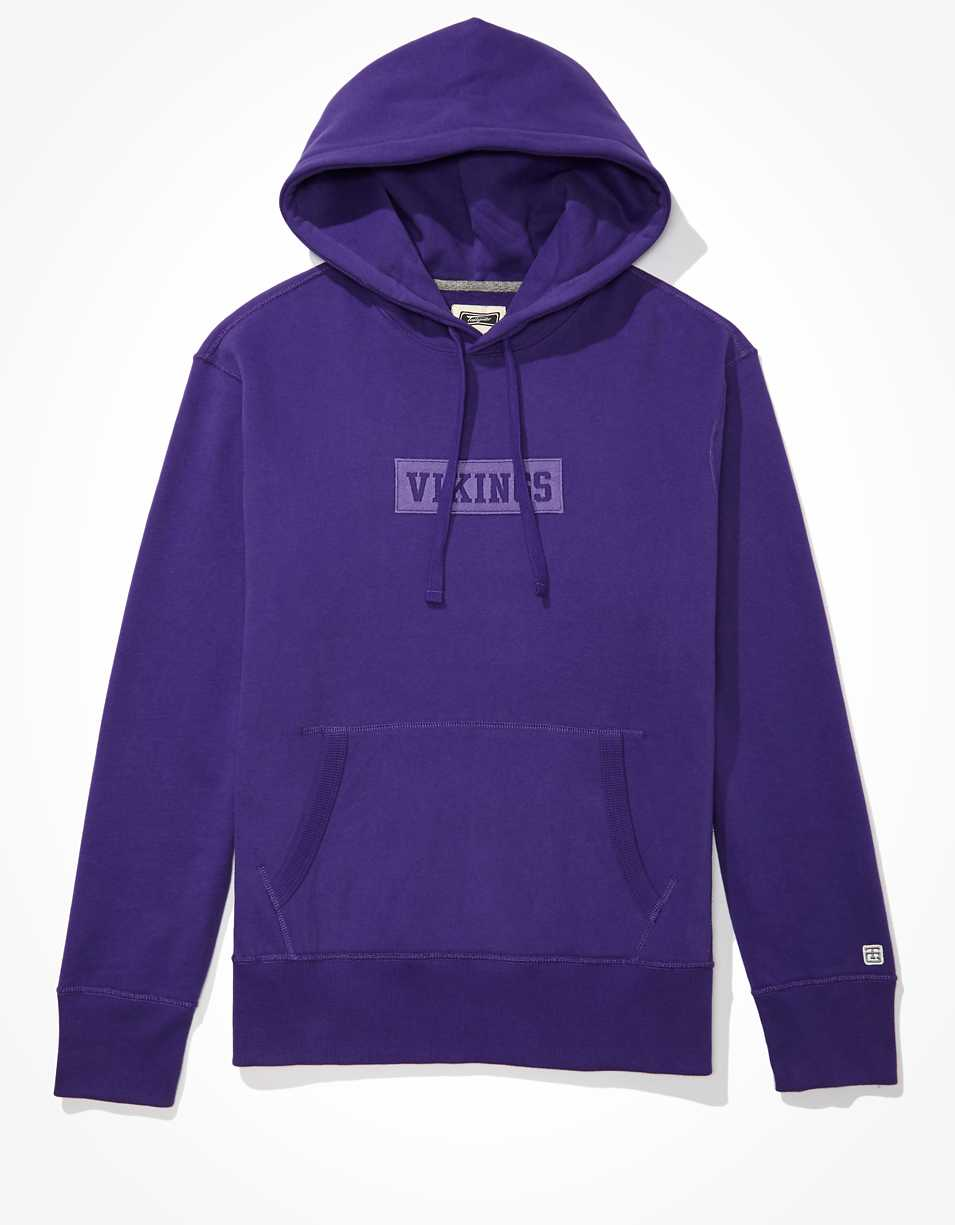 Tailgate Men's Minnesota Vikings Tonal Graphic Hoodie