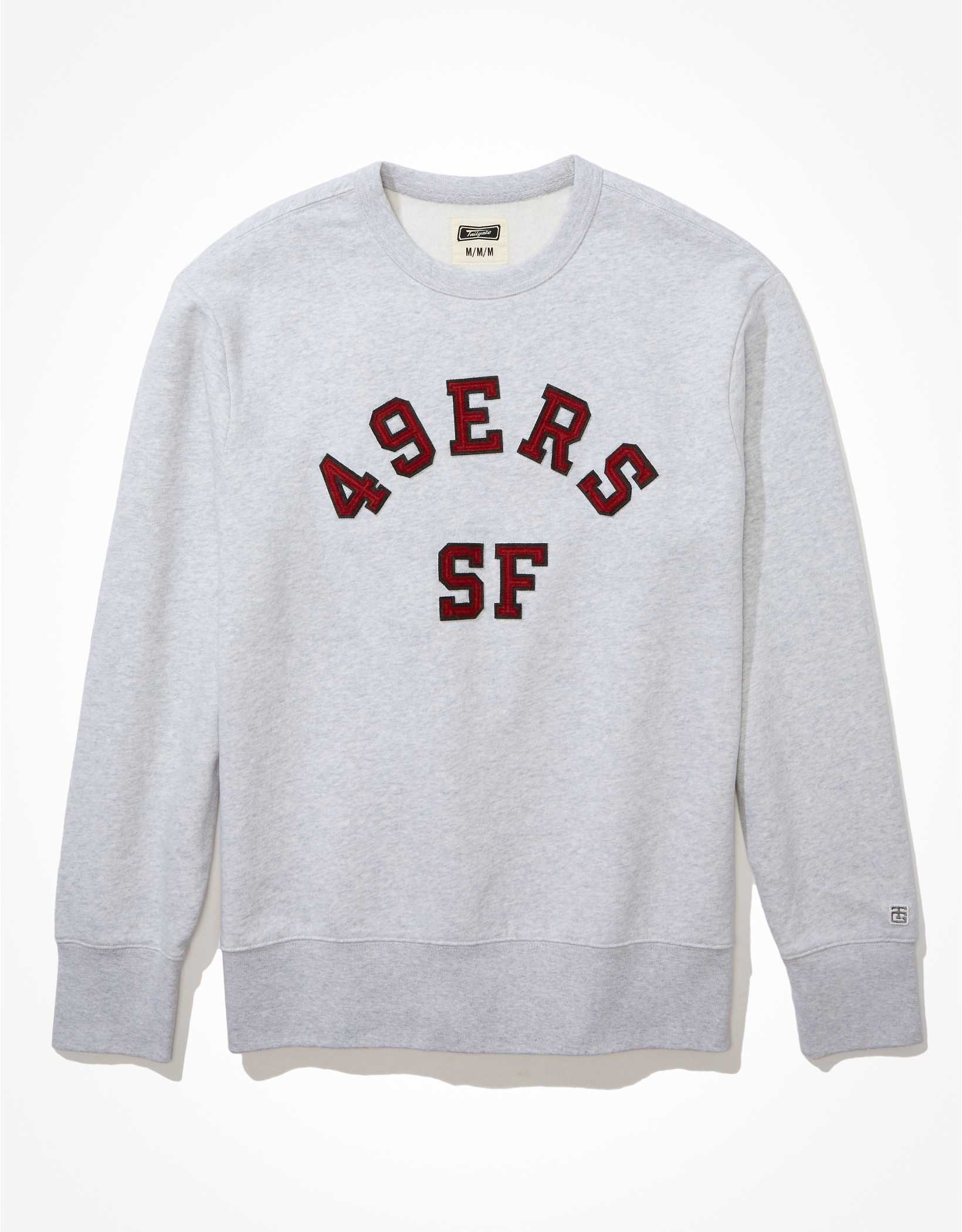 Tailgate Men's San Francisco 49ers Fleece Crew Neck Sweatshirt