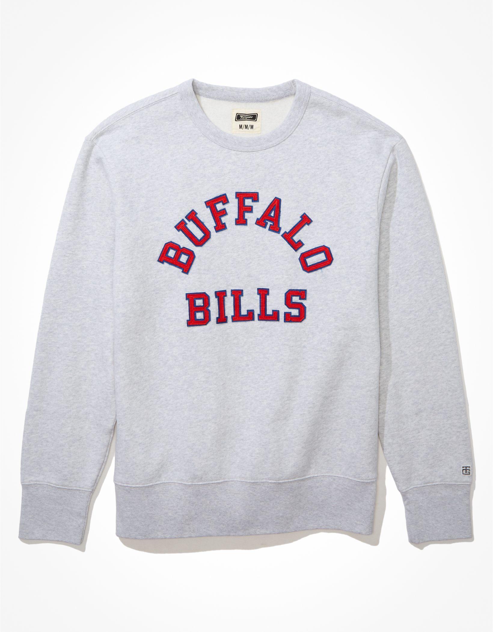 Tailgate Men's Buffalo Bills Fleece Crew Neck Sweatshirt