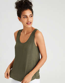 Ae Soft & Sexy Ribbed Tank Top by American Eagle Outfitters