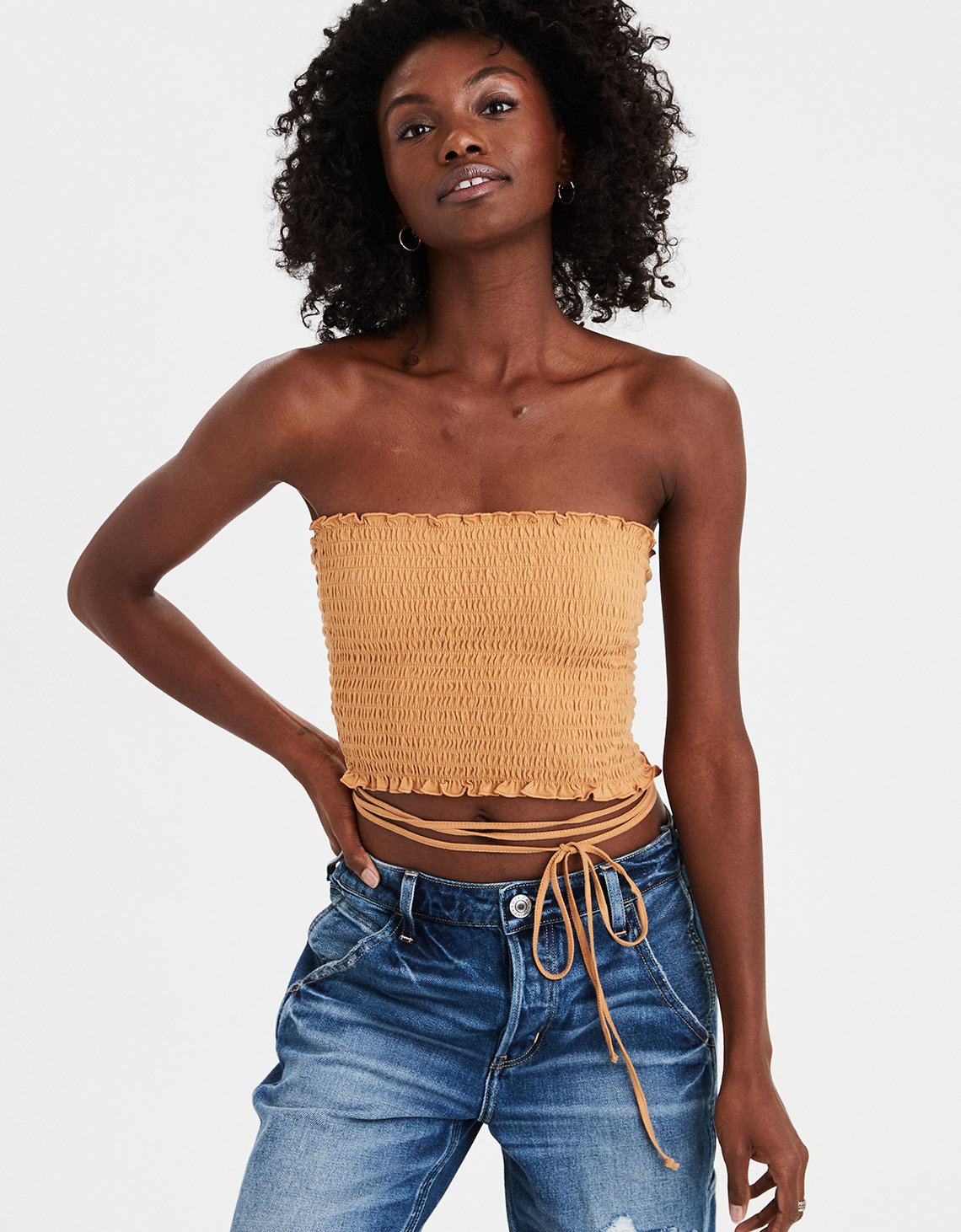 24fd5d08ea03 AE Wrap Around Smocked Tube Top. Placeholder image. Product Image