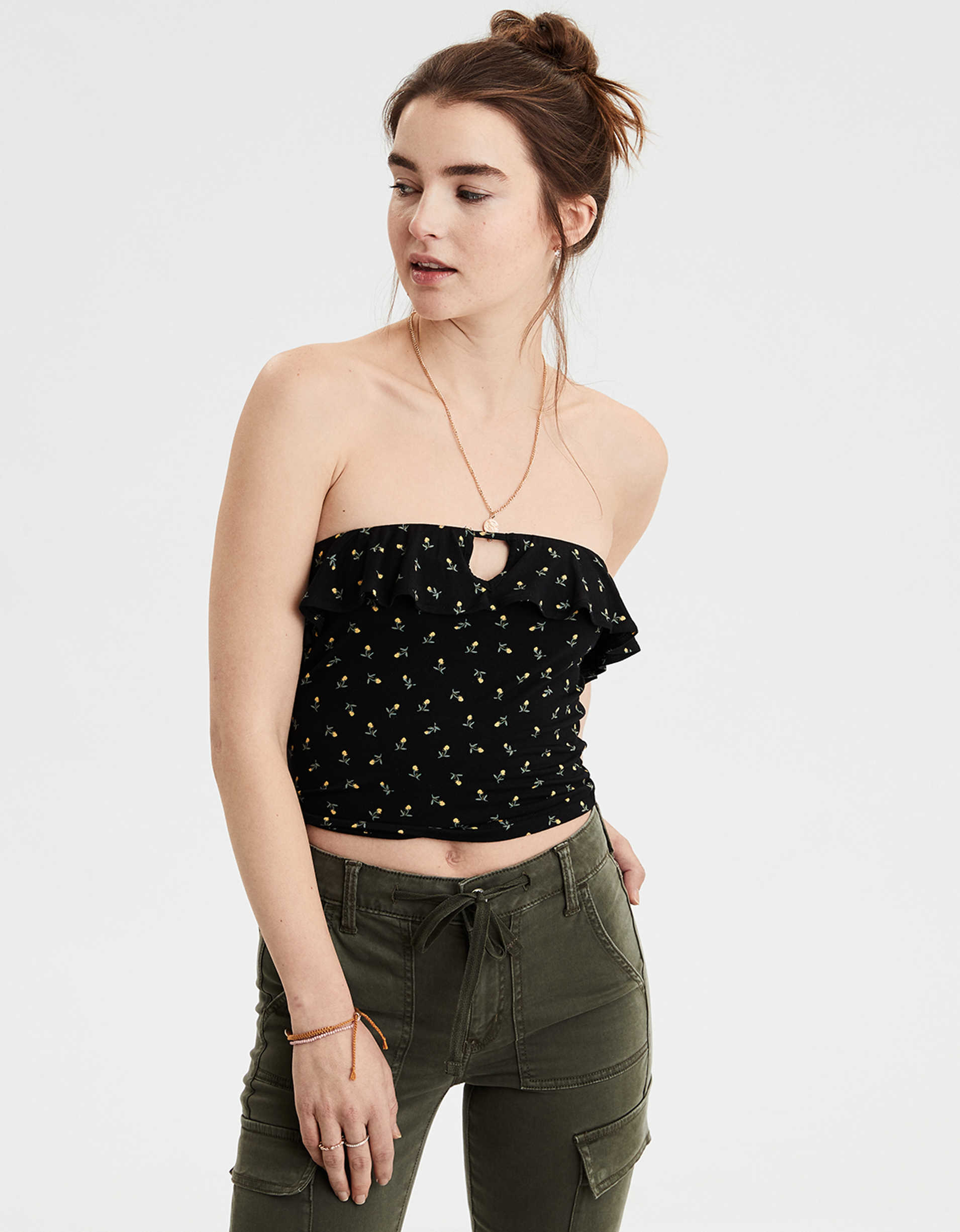 AE Soft & Sexy Ruffle Tube Top