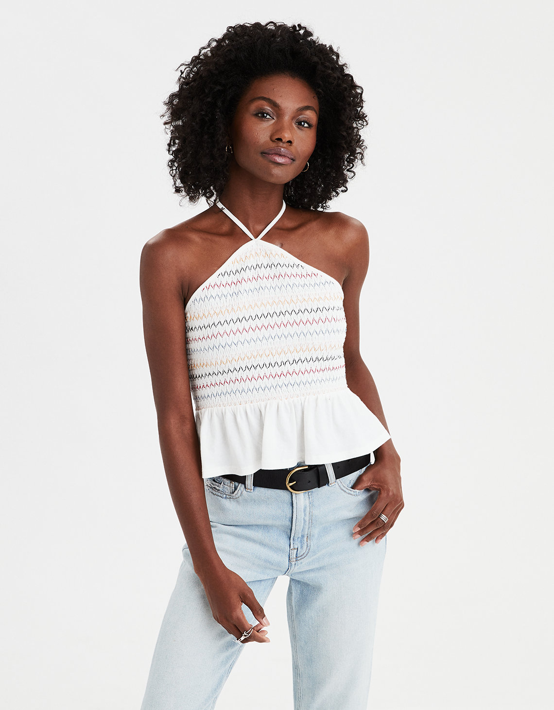 d54bf168902 AE Smocked Halter Top. Placeholder image. Product Image