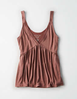 Ae Lace Babydoll Tank by American Eagle Outfitters