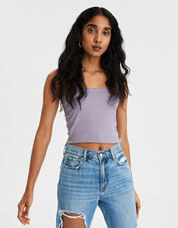 AE Lettuce Edge Crop Top