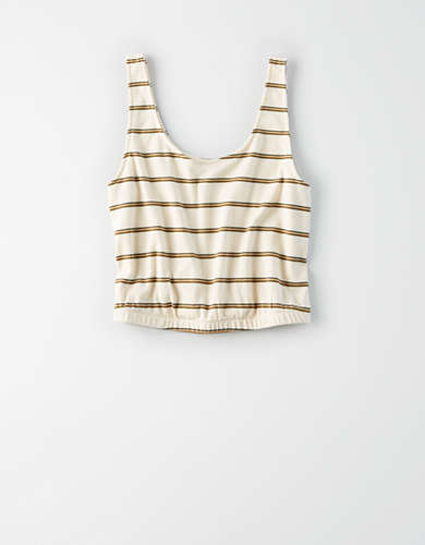 AE Scoop Neck Bubble Tank Top