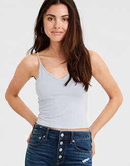 AE Soft & Sexy V-Neck Crop Top