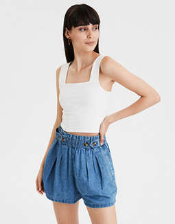 AE Wide Strap Cropped Tank Top