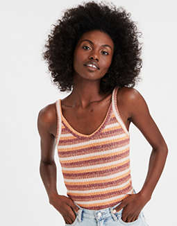 AE Plush Striped Cami