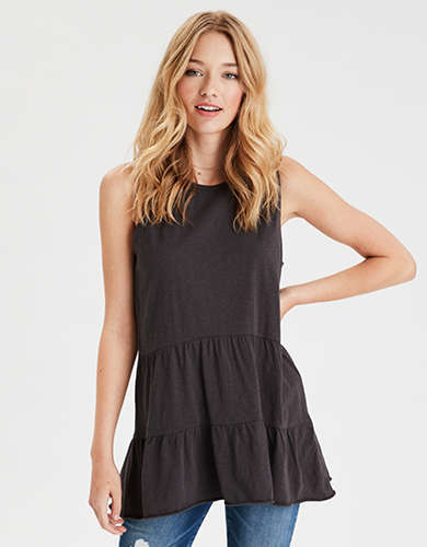 AE Tiered Peplum Tunic Top