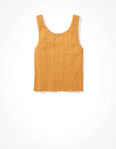 AE Button Front Tank Top