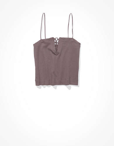 AE Lace Up Bungee Tank Top