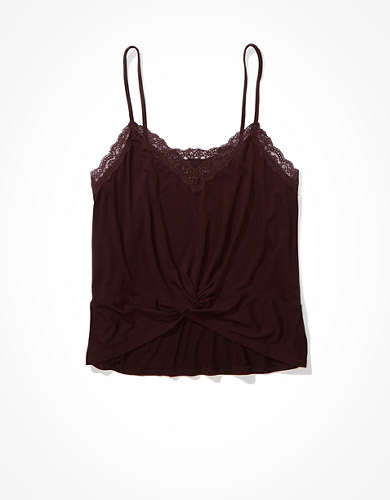 AE Lace Twist-Front Tank Top