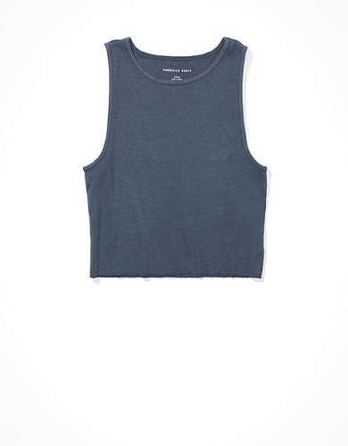 AE Cropped High Neck Tank Top
