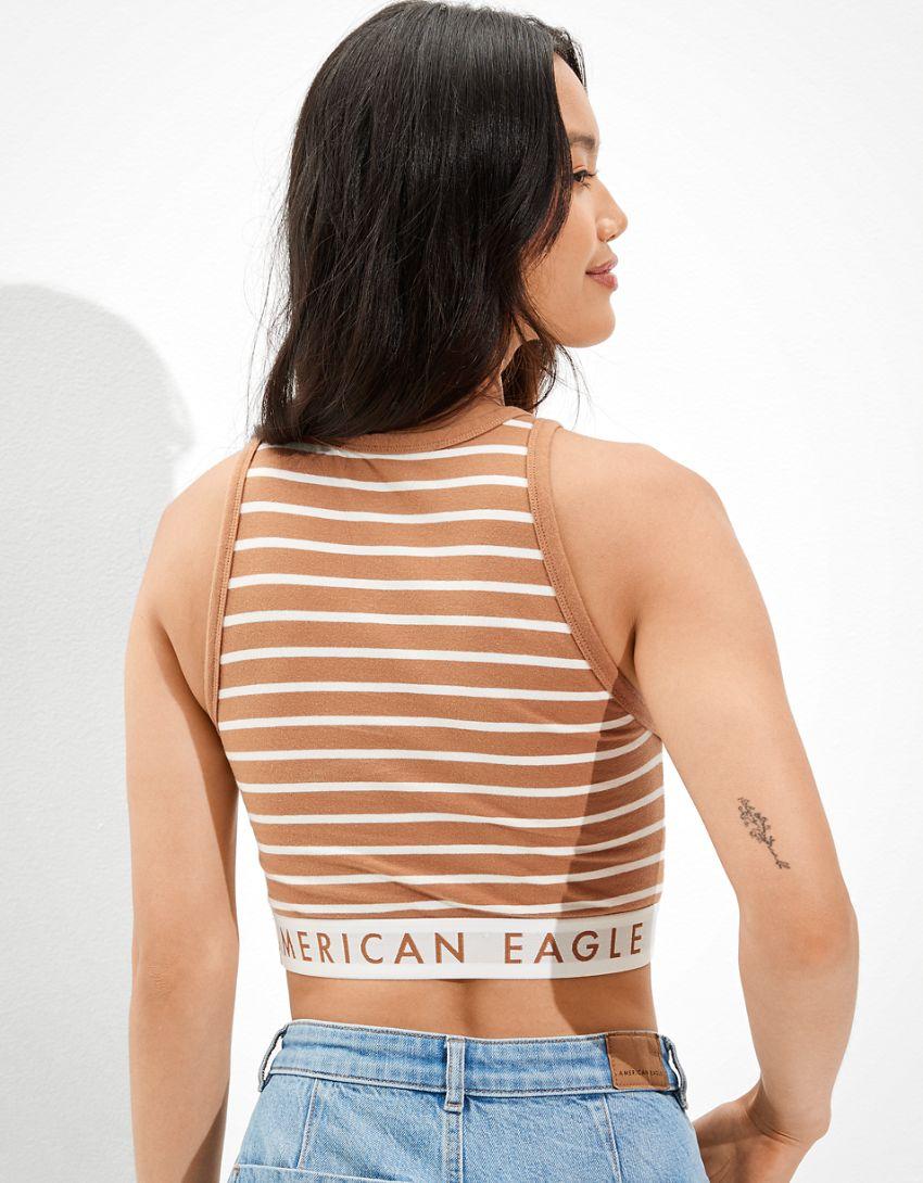 AE High-Neck Logo Tank Top