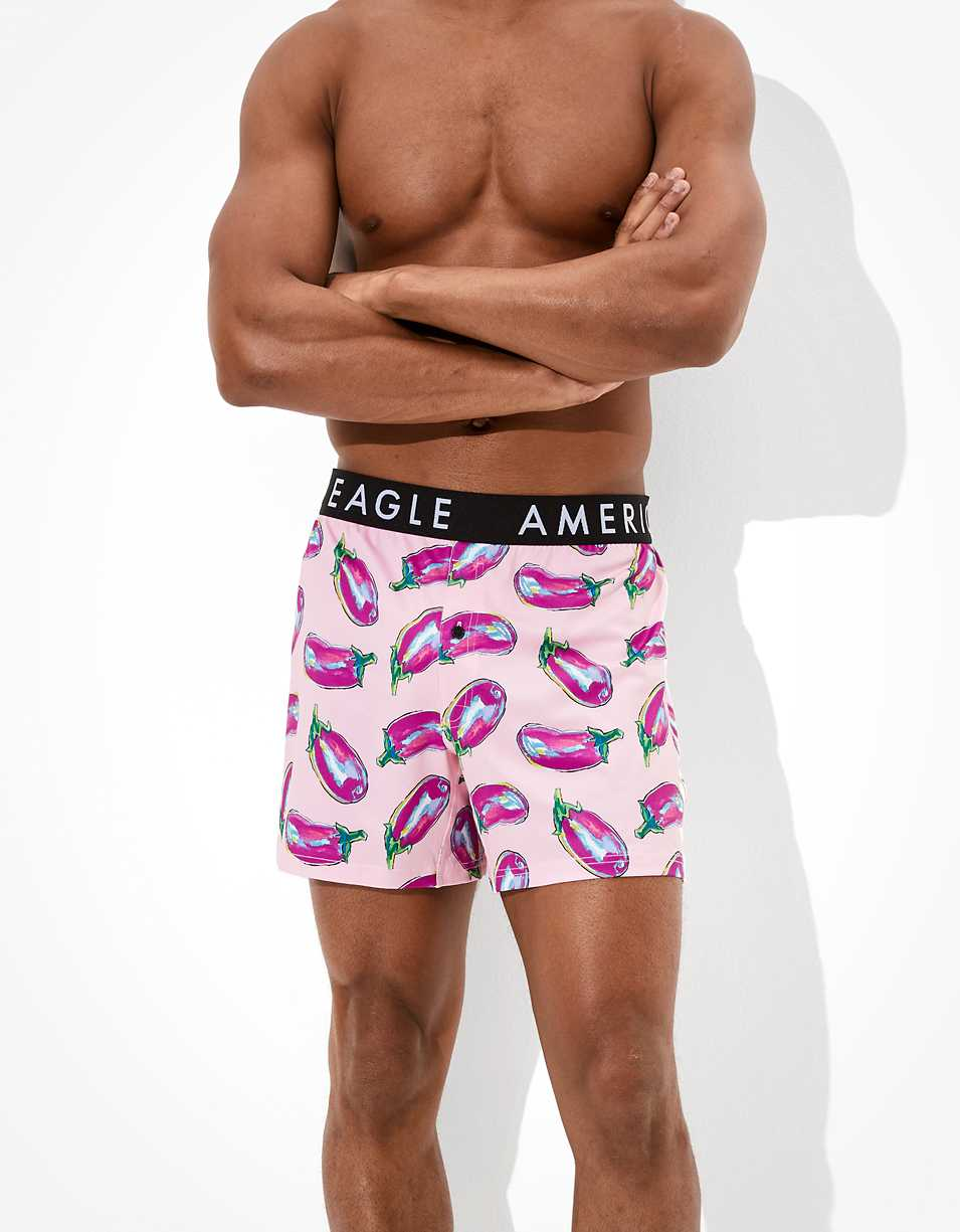 AEO Paint Eggplants Flex Boxer Short