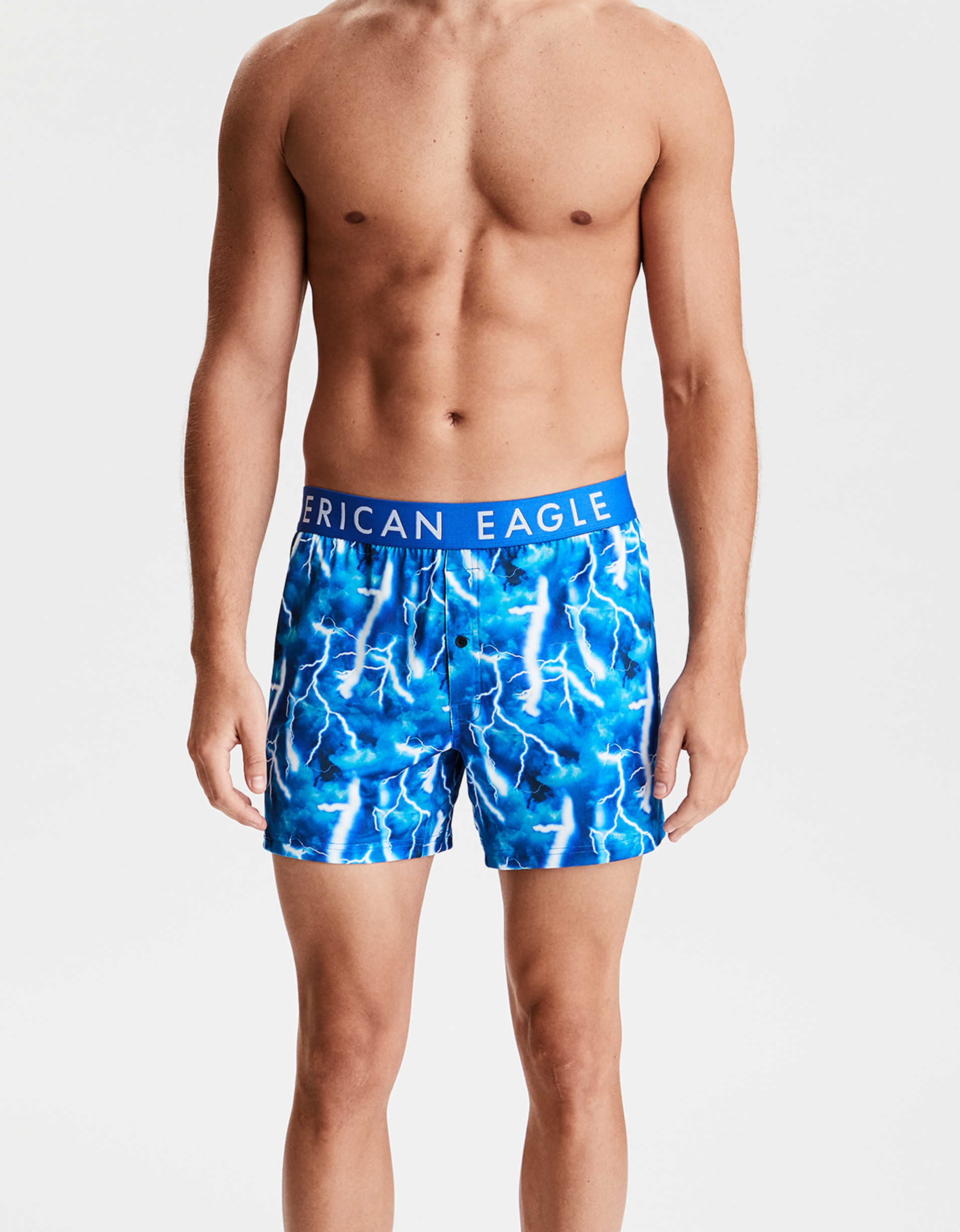 "AEO Photoreal Bolts 4"" Flex Boxer"