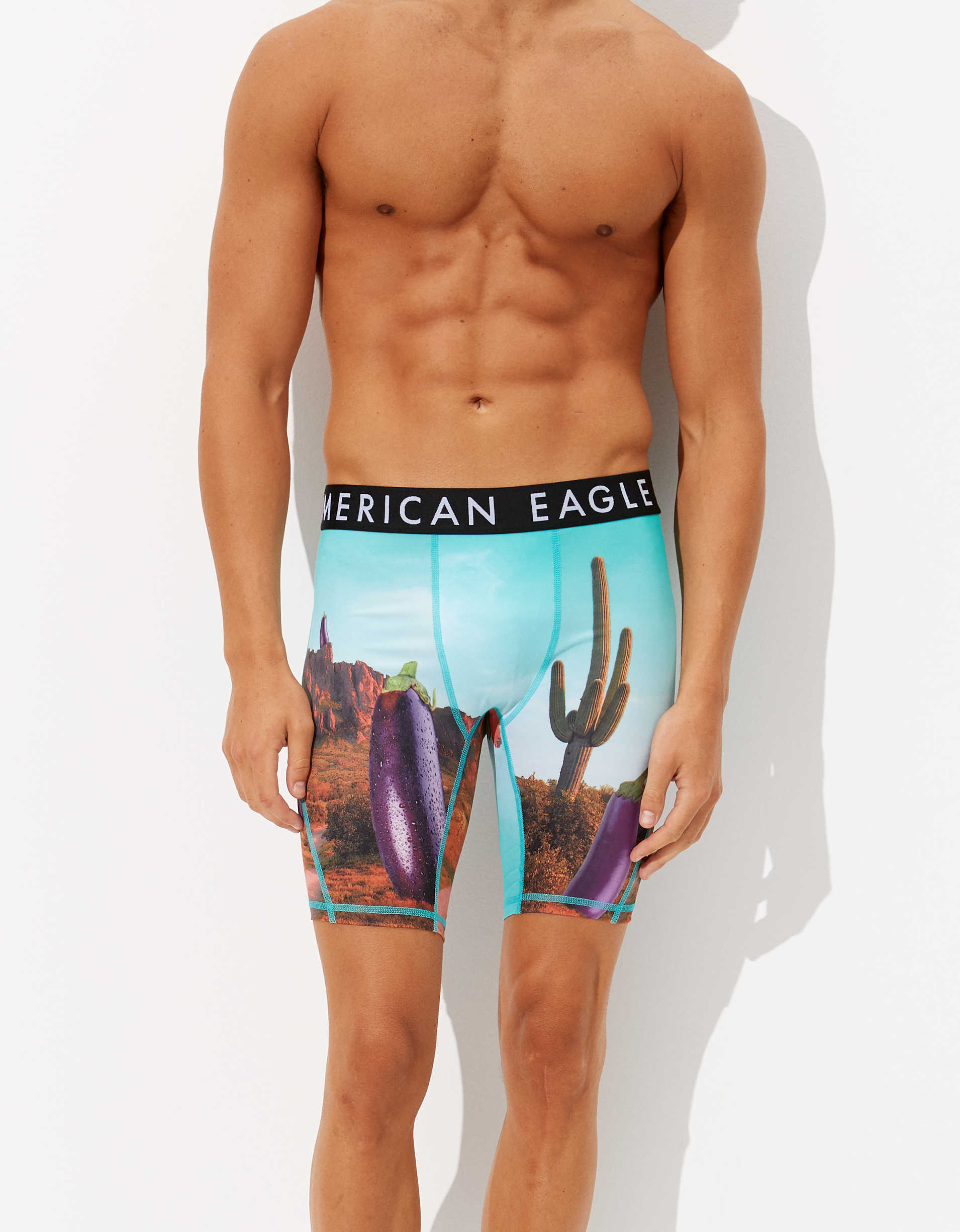 "AEO Eggplant Land 9"" Flex Boxer Brief"