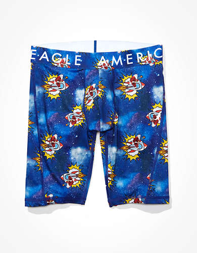 "AEO Santa Rockets 9"" Flex Boxer Brief"