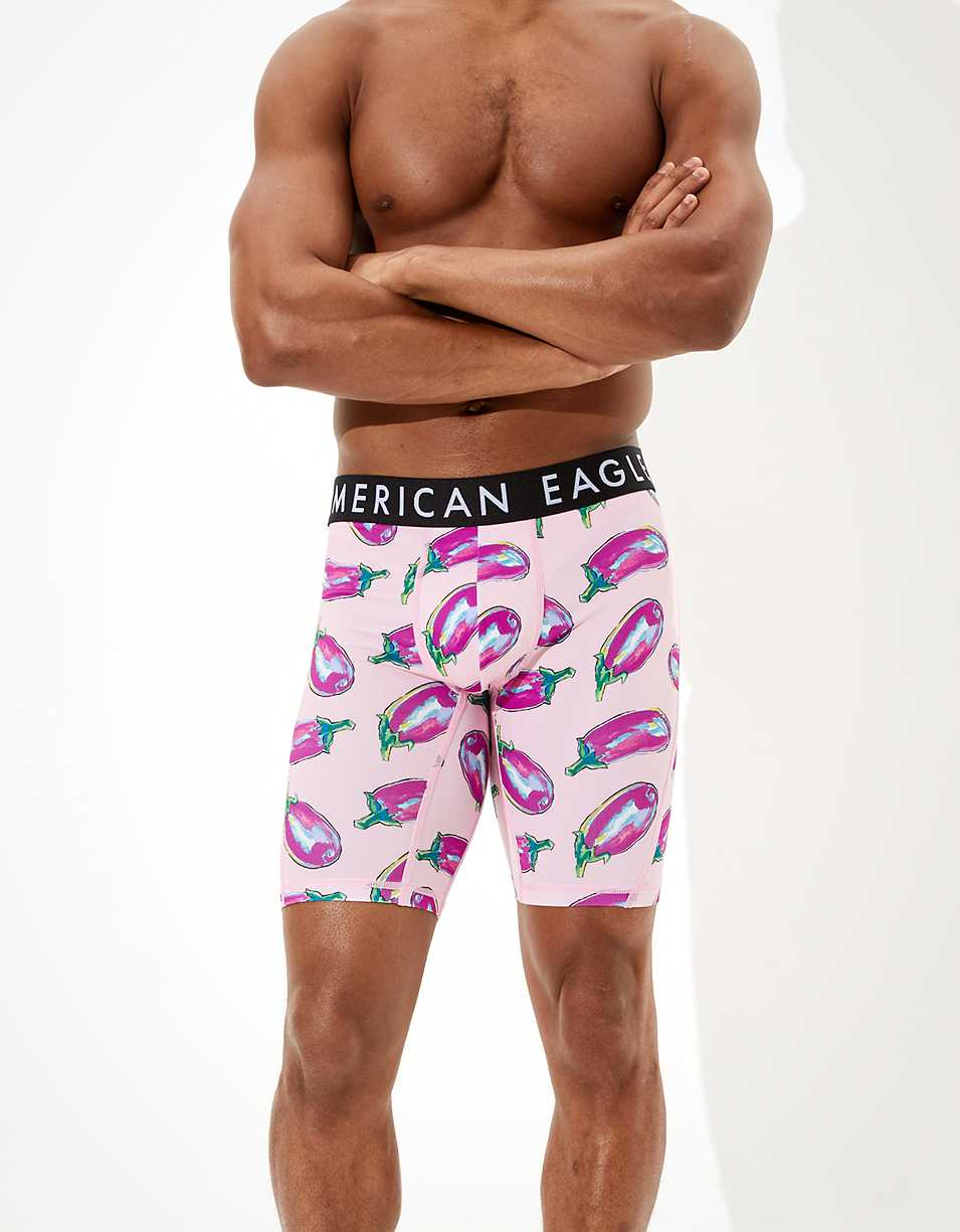 "AEO Paint Eggplant 9"" Flex Boxer Brief"