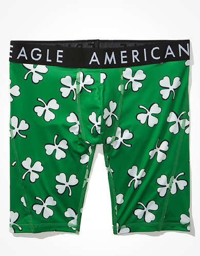 "AEO Clovers 9"" Flex Boxer Brief"