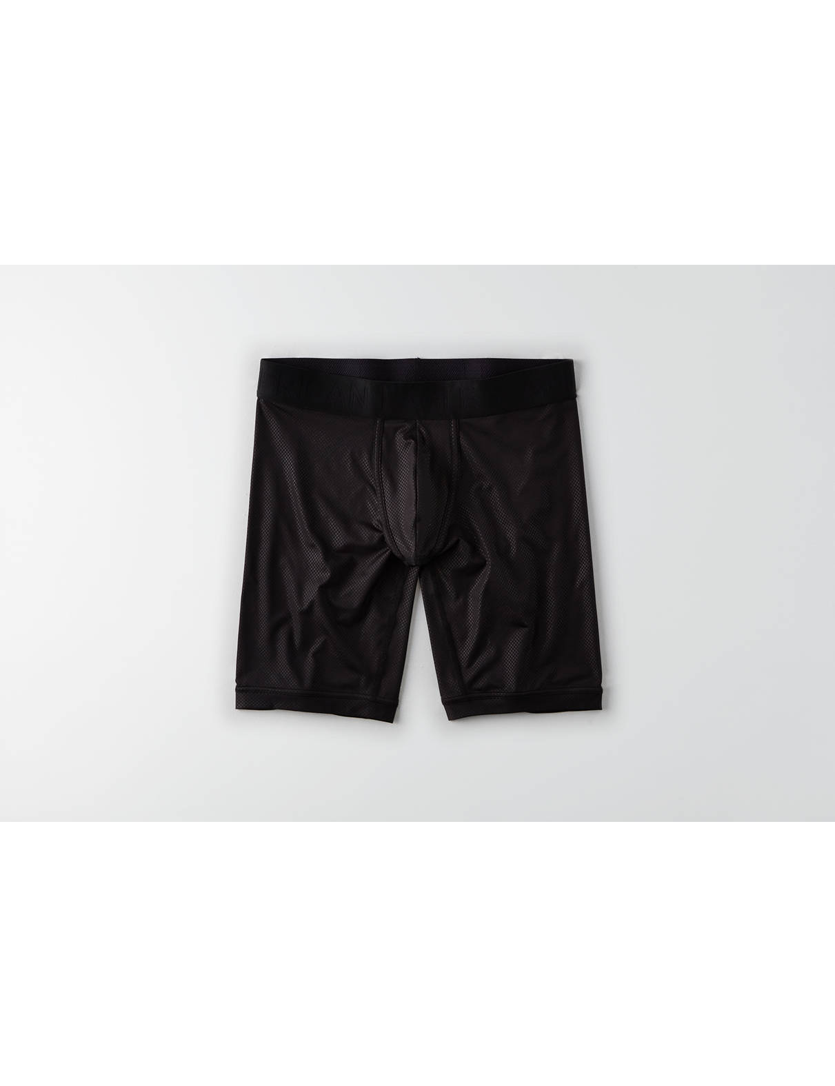 "Display product reviews for AE Solid 9"" Flex Boxer Brief"