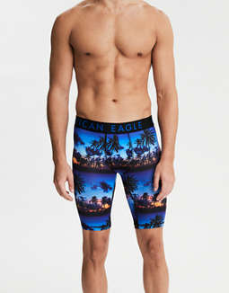 "AEO Photoreal Tropic 9"" Flex Boxer Brief"