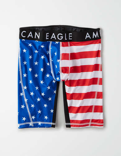"AEO Stars + Stripes 9"" Flex Boxer Brief"