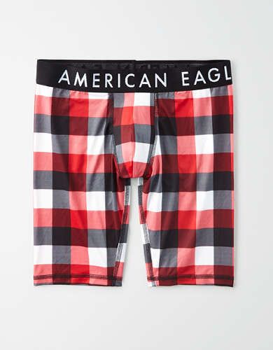 "AEO Plaid 9"" Flex Trunk Underwear"
