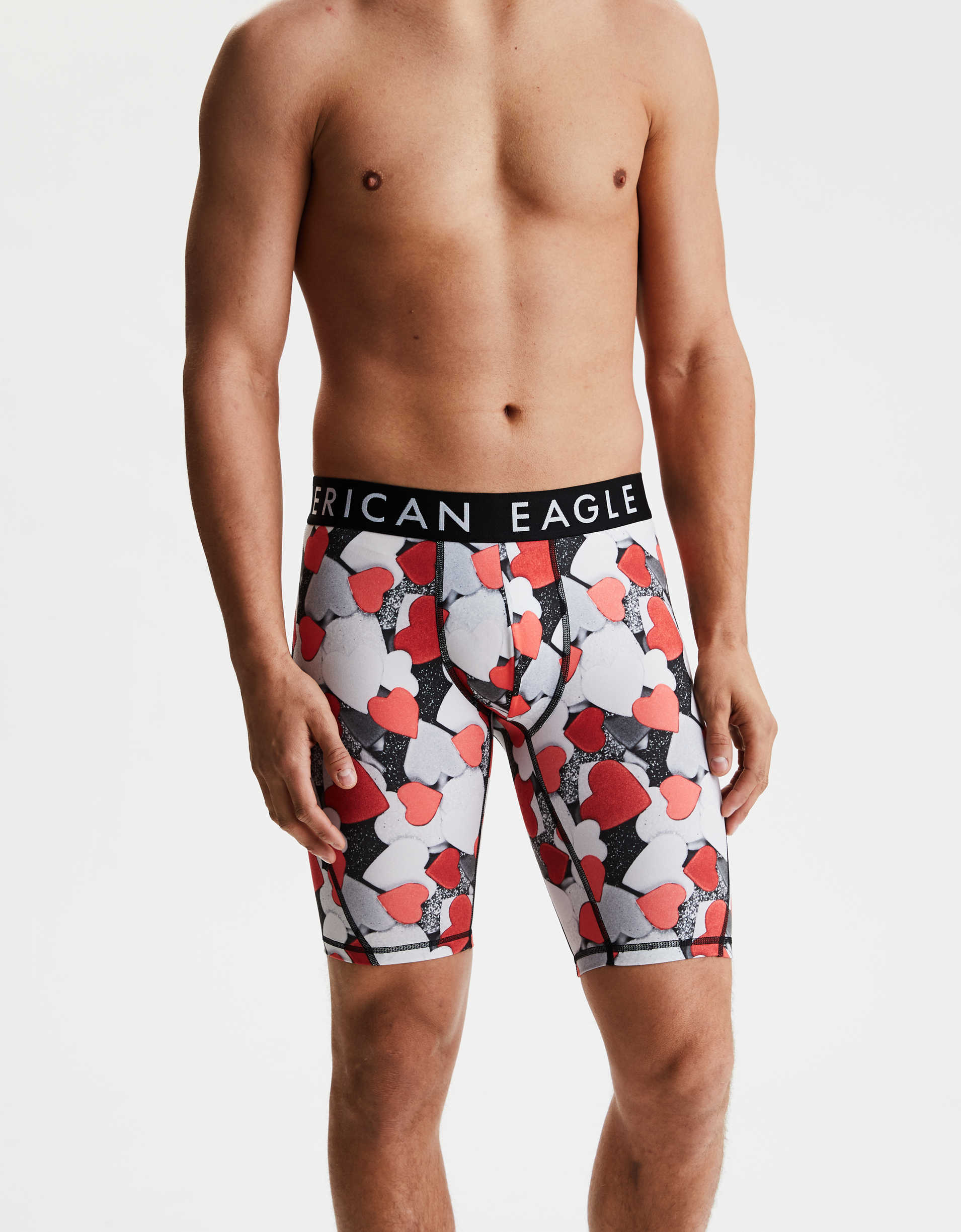 "AEO Hearts 9"" Flex Boxer Brief"
